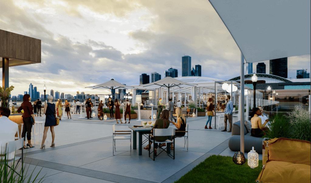 Die größte Rooftop Bar der Welt befindet sich in Chicago
