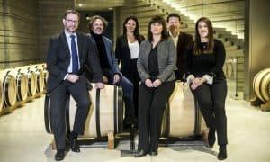 Masseto-Team. Von links: Tim Banks, Axel Heinz, Elena Oprea, Susanne Weber, Vianney Gravereaux, Eleonora Marconi